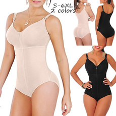 Plus Size, Zip, fullbodycontrolshaper, Slim Fit