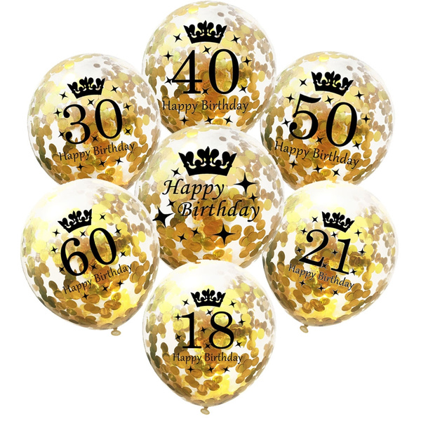 inflatable confetti balloons 12 inch latex clear happy birthday