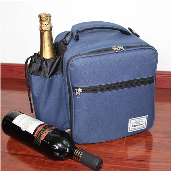 d3b92e3deb46 Insulated Freezable Lunch Bags Adults Cooler Tote Bag Reusable Lunch  Organizer with Large Water Bottle Holder for Men Women Office Picnic School  Work ...