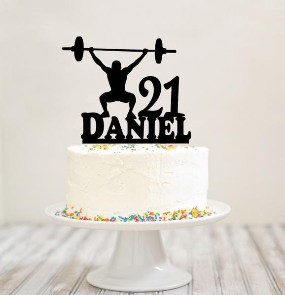 Prime Muscle Man Silhouette Cake Topper Musclemans Birthday Sake Personalised Birthday Cards Xaembasilily Jamesorg
