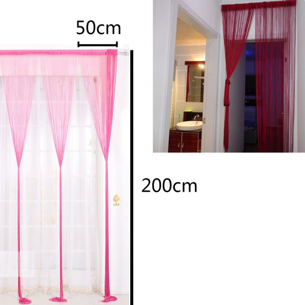 50x200cm String Curtains Patio Net Fringe For Door Fly Screen Windows Divider Cut To Size Diy