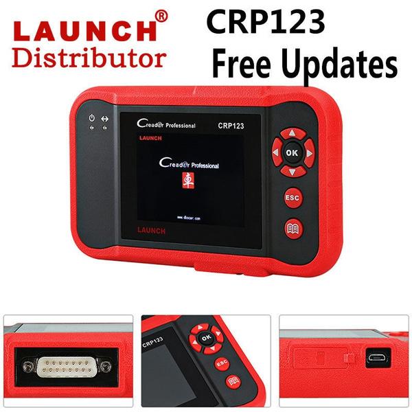 2018 Lifetime Updates LAUNCH X431 CRP123 OBD2 Diagnostic Scanner  Transmission ABS SRS