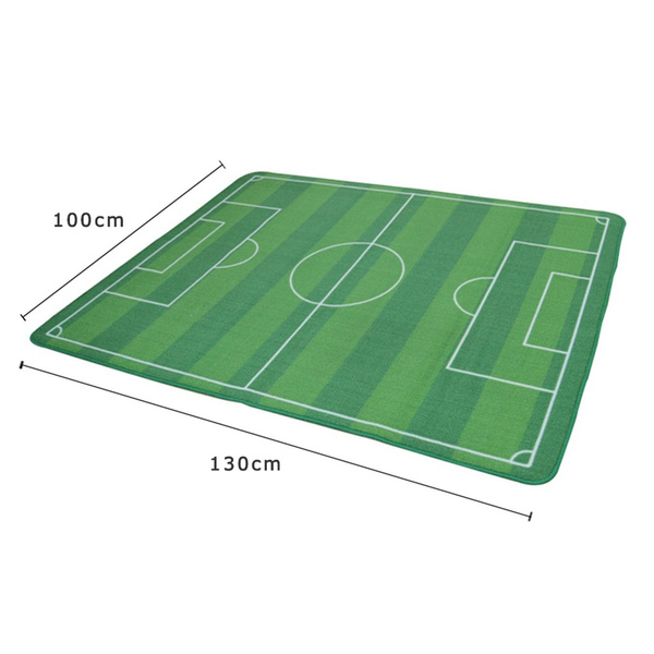 Wish 43 51 Large Soccer Playing Field Rug Football Pitch Carpet Fans Playmat