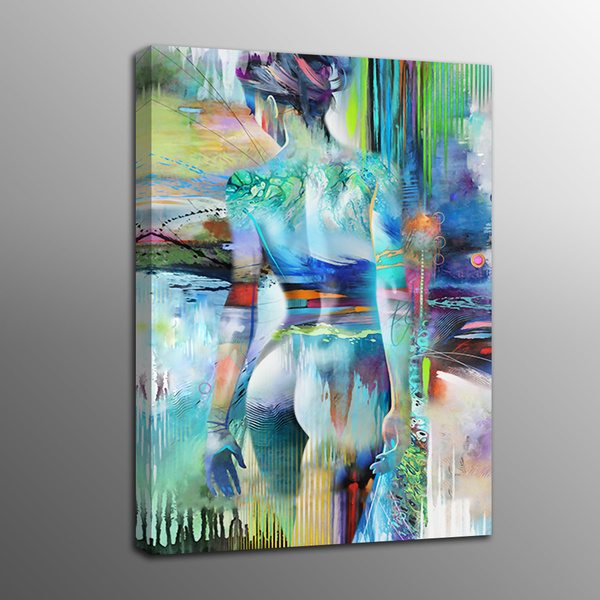 Abstract Canvas Prints Human Body Art Naked Oil Painting Picture Art Home Decor Frame No Wish