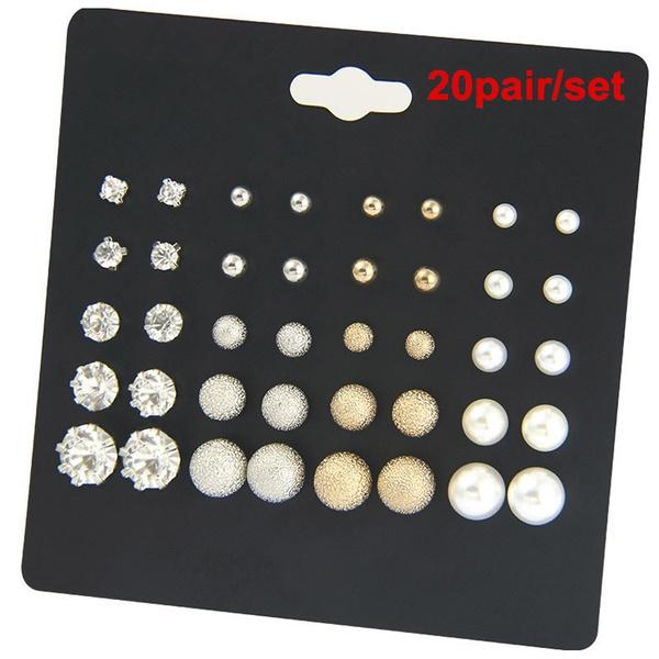 Cubic Zirconia, Fashion, Jewelry, Pearl Earrings