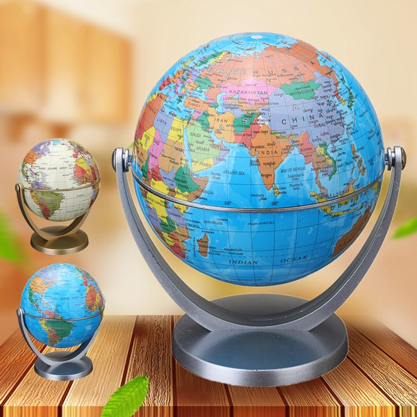 WORLD MAP GLOBES TABLE DECOR OCEAN GEOGRAPHICAL EARTH DESKTOP GLOBE