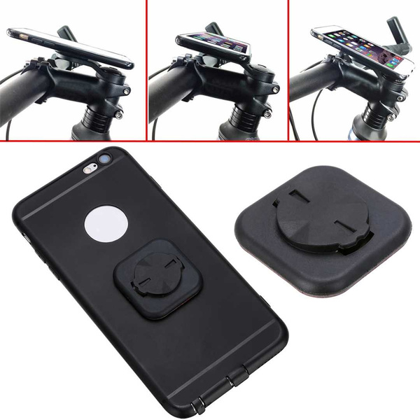 Bike Stem Computer Mount Phone Adhesive Stick Adapter Holder For Garmin Edge GPS