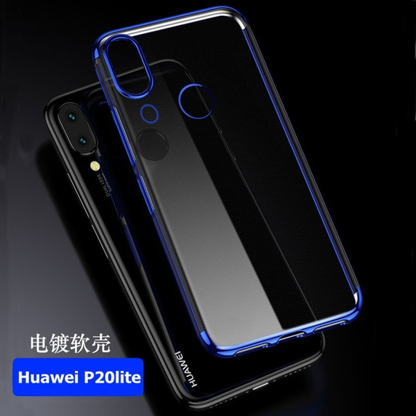 online store 6673b b3751 Coque Huawei P20 Lite Case Huawei P20 Pro Silicone Plating TPU Cover for  Huawei P 20 Phone Cases