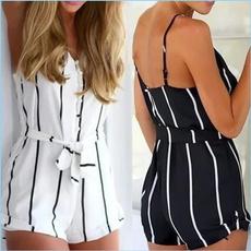 Fashion, stripped, V-neck, Women's Fashion