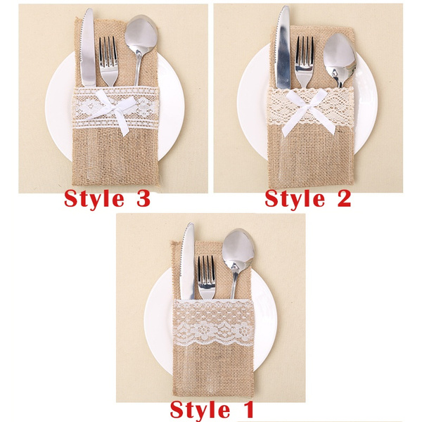 Decor, tablewarebag, weddingtableware, forkholderbag