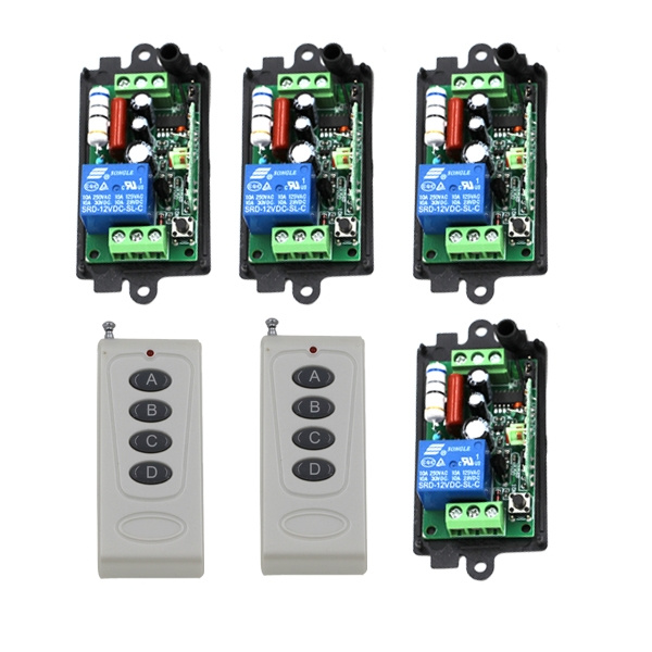 New AC 220V 10A 1 Channel Wireless Relay Remote Control Switch RF  315MHz,Remote Controllers For Light switch SKU: 5386
