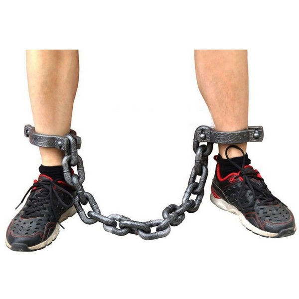 wish halloween props fancy dresses decorative irons prisoners cos plastic simulation handcuffs chains shackles