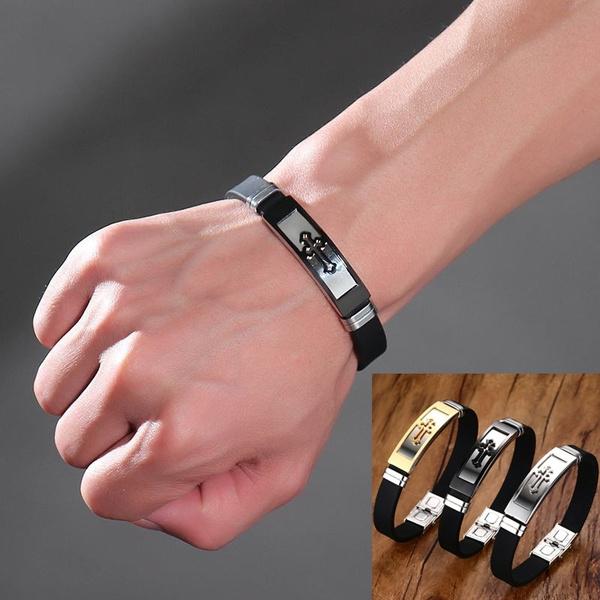 Steel, Wristbands, gold, stainlesssteelbracelet