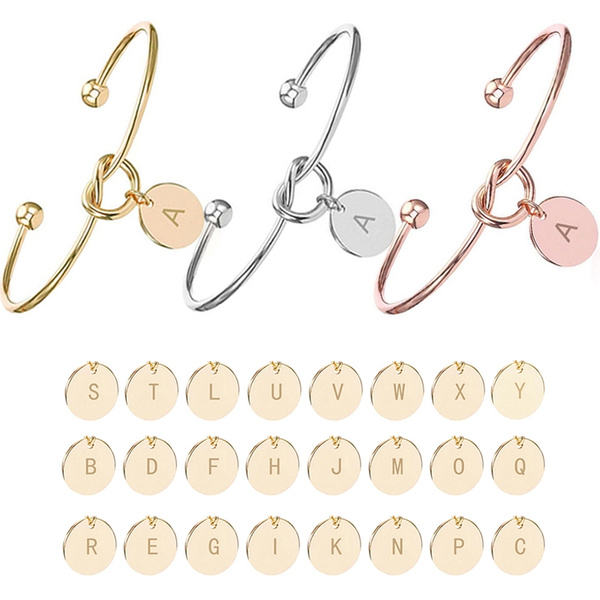 Personalized Initial Knot Bracelet