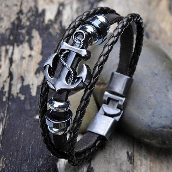 Steel, Vintage, Anchor, stainless steel bracelets bangle wriswatch