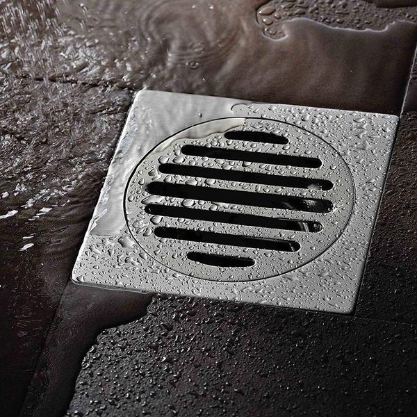 Wish Stainless Steel Floor Drainage Shower Bath Odor Trap Drain 10 X 10cm