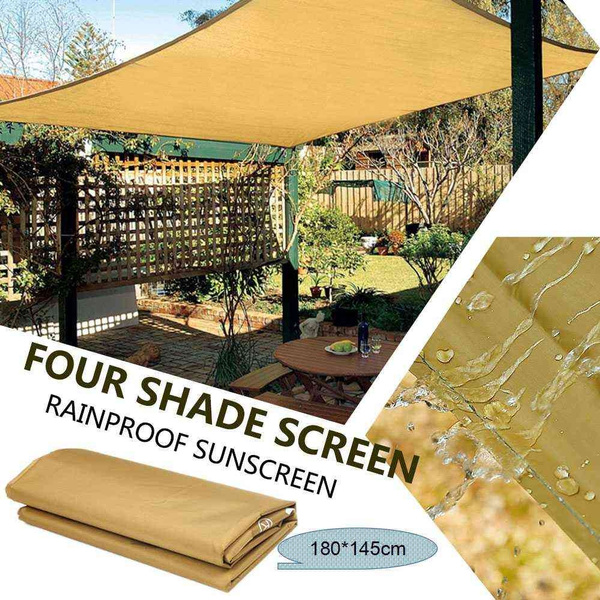 180*145cm Aquare Sun Sail Shade GardenCanopy Swimming Pool Awning Canopy  Waterproof Sunscreen UV Protection Shelter Picnic Mat Outdoor