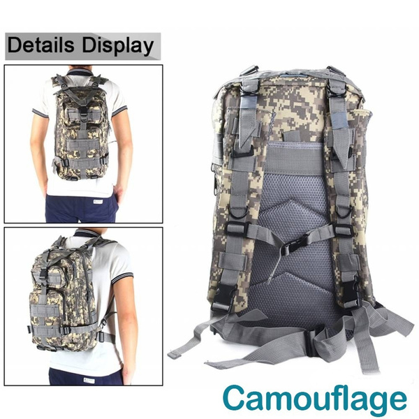 Wish   Military Tactical Backpack Small 3 Day Assault Pack Army Molle Bug  Out Bag Backpacks Rucksack for Outdoor Sport Travel Hiking Camping Hunting  Daypack ... db165d2aa5