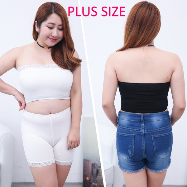 fb88d0a4c Upgrade Plus size Summer Womens Sexy Casual lace breathable Crop ...