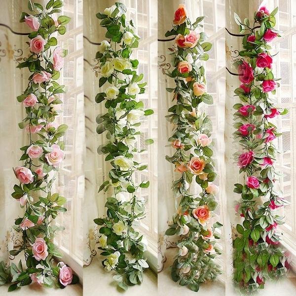 Silk Rose Flower Hanging Vine Ivy