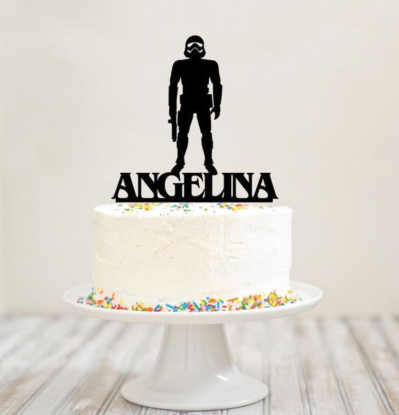 Wondrous Stormtrooper Cake Topper Star Wars Stormtrooper Topper Personalised Birthday Cards Vishlily Jamesorg