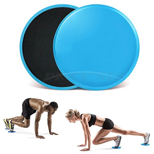 2 X Gliding Discs Core Sliders Dual Sided Fitness Home Gym Abs Exercise Workouts Accessories