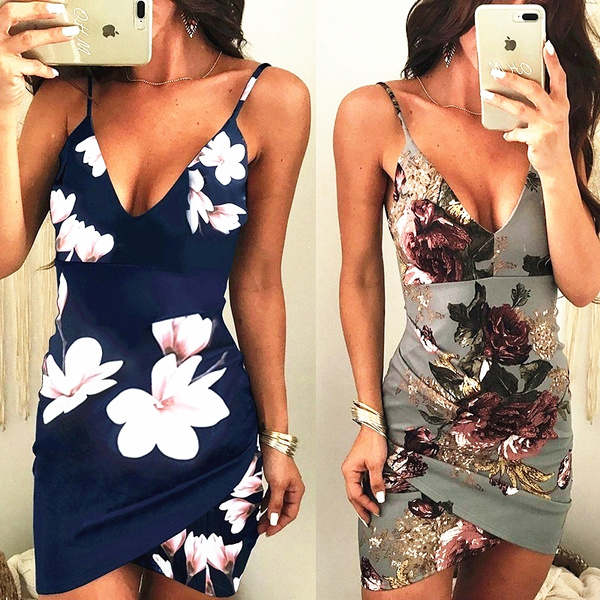Summer, Fashion, Floral print, Party Dresses