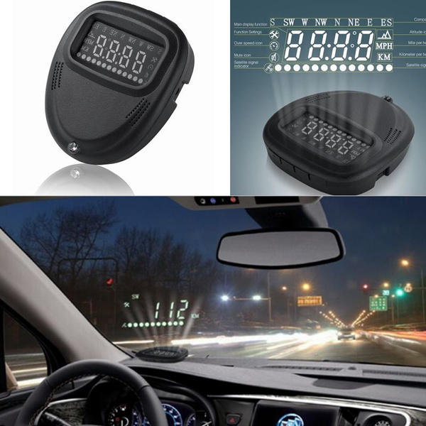 Electronic Windshield Projector Digital GPS Speedometer HUD Car Speed  Projector A1 Head Up Display Suitable for All Car