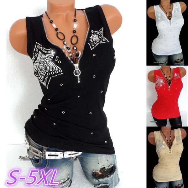 Deep V-Neck, Women Vest, Vest, Fashion