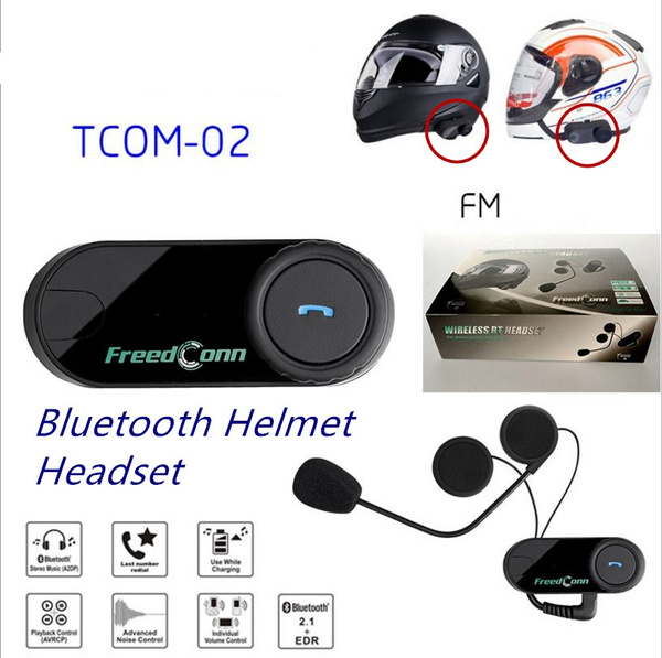 Motorcycle Helmet Headphones FREEDCONN TCOM - 02 Helmet BT Headset Kit