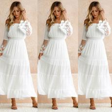 Fashion, Lace, Sleeve, Dresses
