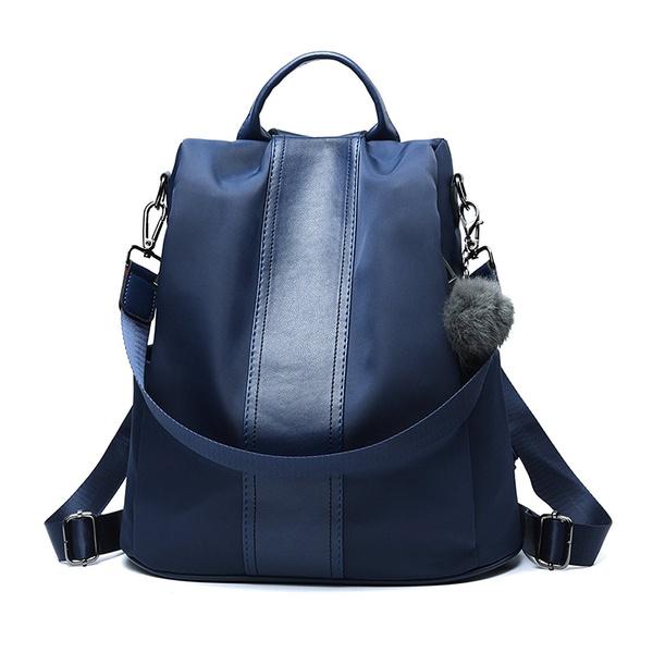 61f4b0f199e2 Women Backpack Purse Waterproof Nylon Anti-theft Rucksack ...
