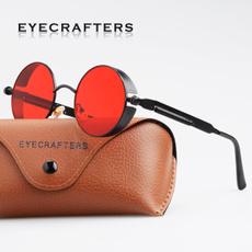 Goth, Fashion, Round Sunglasses, metal sunglasses