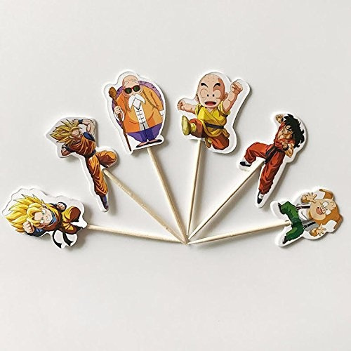 Pack Of 24 Dragon Ball Z Cupcake Topper Picks Party Decoration For