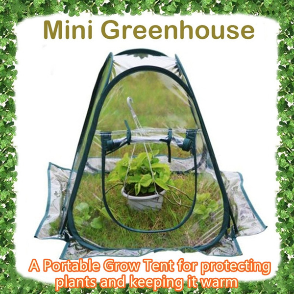 Clear PVC Greenhouse Cover Flower House Mini Gardening Plant Flower Grow  tent Keep warm Protect plants