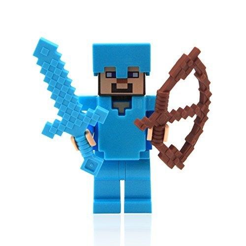 Lego Minecraft Steve With Diamond Armor And Sword