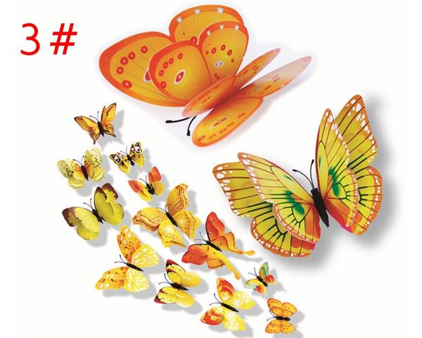 Wish | 12 Pcs 3D WAQIA Hot& Wholesale Butterfly Wall Stickers Fridge ...