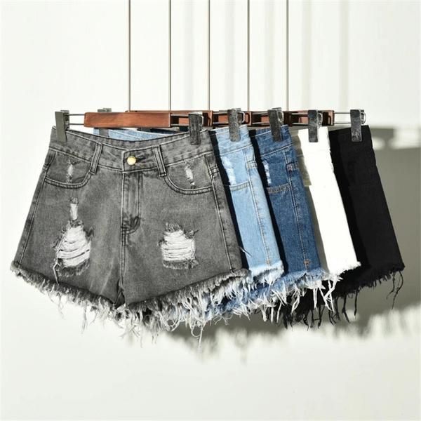 denim shorts women, Summer, Shorts, Waist
