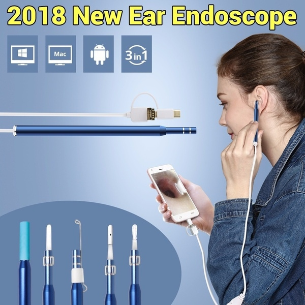 Mini, borescope, led, earcleaningendoscope