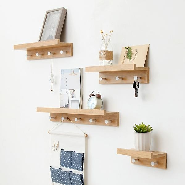 shelfsforwall, Bathroom, Hooks, Wooden