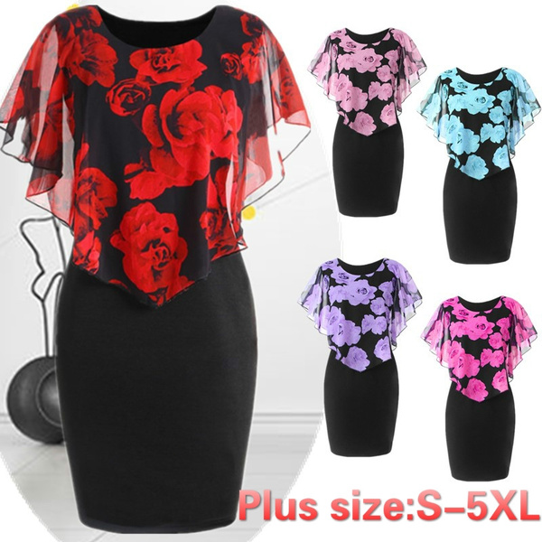Plus Size, Lace, chiffon, plus size dress