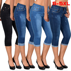 Plus Size, calflength, Waist, pocketjean