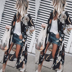 Fashion, chiffon, Long Sleeve, summercaidigan