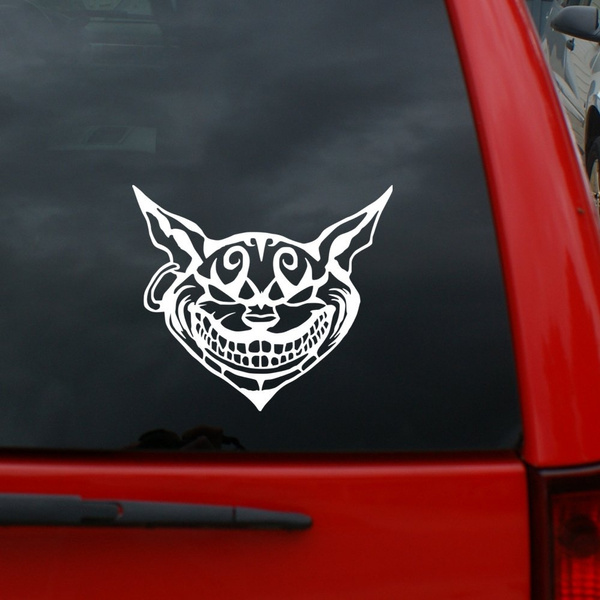 Cheshire Cat Vinyl Decal Car Truck Window Sticker Alice in Wonderland