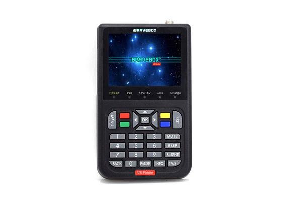 BIOI® IBRAVEBOX V8 Finder Digital Satellite TV Signal Finder Meter Freesat  HD DVB-S2 FTA LNB Signal Meter Pointer Satellite TV Receiver Tool with 3 5'