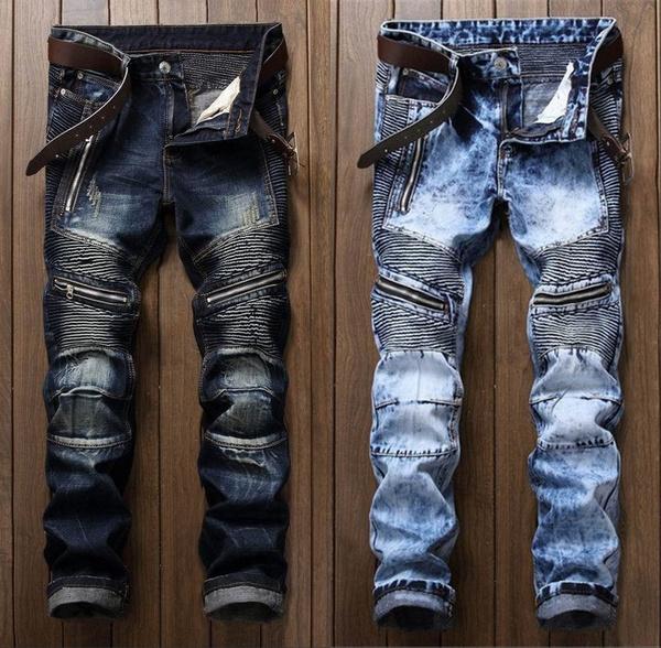 men jeans, Fashion, Pleated, pants