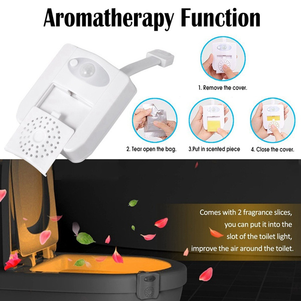 Incredible 8 Color 16 Color Toilet Bowl Light Changing Motion Activated Led Toilet Seat Light With Aromatherapy Battery Operated Alphanode Cool Chair Designs And Ideas Alphanodeonline