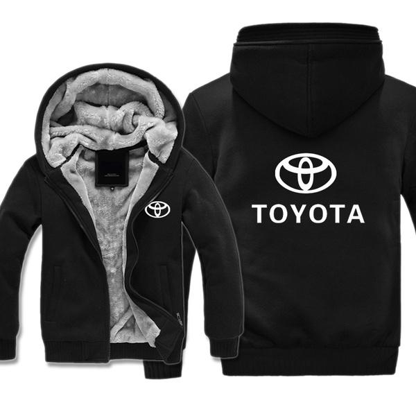 993428792 Toyota Hoodie Men Zipper Hoodies Coat Winter Fleece Thicken Coat ...