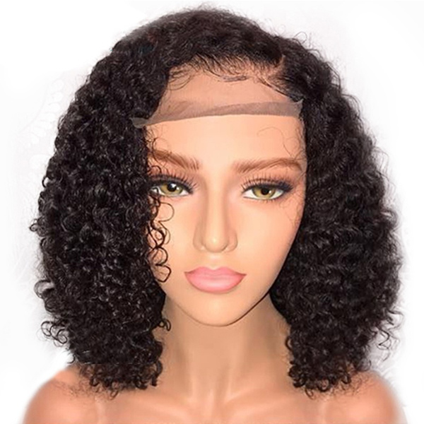 Lace Front Wigs Kinky Curly Short Black Hair
