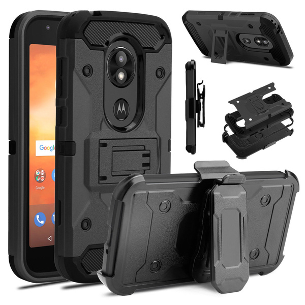 buy popular 020ce bc8c2 Motorola Moto E5 Play / Cruise Case Shockproof Holster Belt Clip Stand  Cover for Motorola Moto E5 Cruise / Moto E5 play Phone Case
